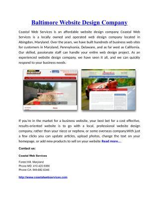 Baltimore Website Design Company