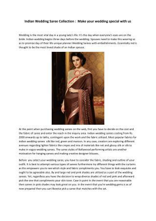 Indian Wedding Saree Collection