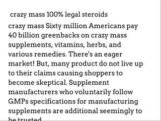 crazy mass 100% legal steroids