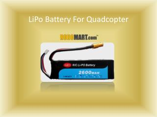 LiPo Battery For Quadcopter by Robomart.com