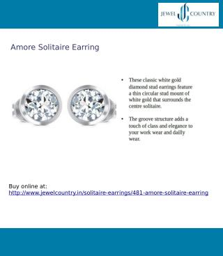 Amore Solitaire Earring