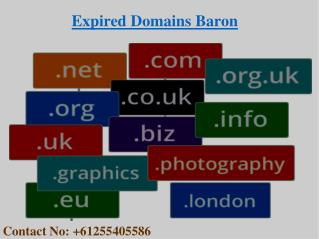 Buy an Expired Domain From Expired Domains Baron