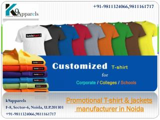 Promotional T-shirt & jackets manufacturer in Noida