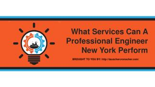 What Services Can A Professional Engineer New York Perform