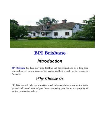 BPI Brisbane | Thermal Imaging Inspections