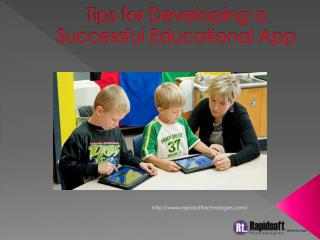 Tips for Developing a Successful Educational App