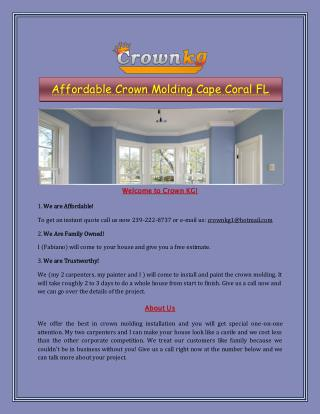 Affordable Crown Molding Cape Coral FL