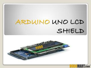 Arduino Uno Lcd Shield By Robomart