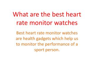 best heart rate monitor watches for good fitness