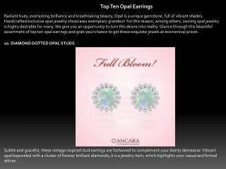 Top Ten Opal Earrings