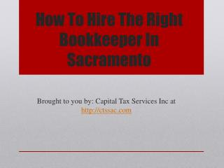 How To Hire The Right Bookkeeper In Sacramento