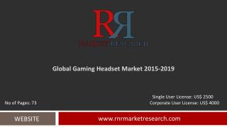 Gaming Headset Market Global Research & Analysis Report 2019