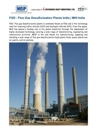 FGD- Flue Gas Desulfurization Plants India