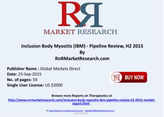 Inclusion Body Myositis Pipeline Review H2 2015