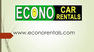 Econo Car Rentals - Car rentals in Tampa Bay area