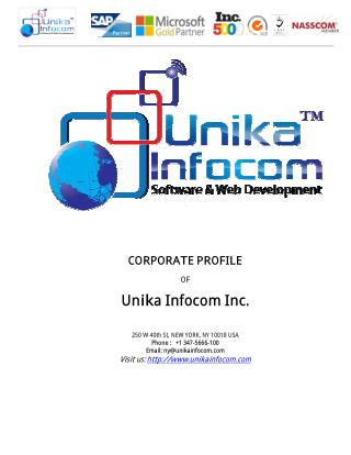 Web Design and Software Development Company India | Unika Infocom