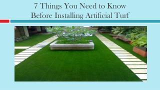7 Things You Need to Know Before Installing Artificial Turf