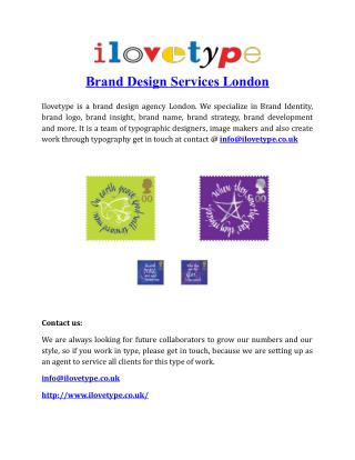 Brand Design Services London