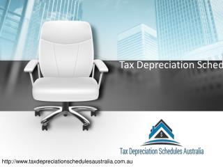 Tax Depreciation used for Quantity Surveyor in Australia.