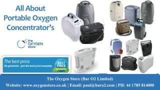All about portable oxygen concentrators