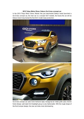 2015 Tokyo Motor Show: Datsun Go-Cross concept car