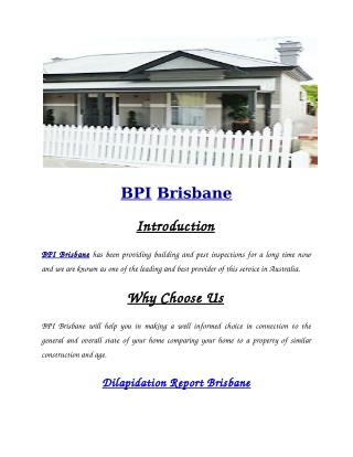 BPI Brisbane | Building and Pest Inspection Brisbane