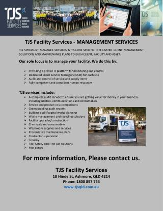 TJS Facility Services - MANAGEMENT SERVICES