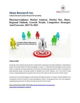 Pharmacovigilance Market Analysis,Market Size, Share, Regional Outlook, Growth Trends, Competitive Strategies And Foreca