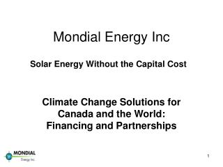Mondial Energy Inc
