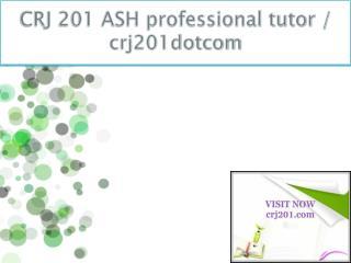 CRJ 201 ASH professional tutor / crj201dotcom