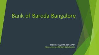 Bank of Baroda in Bangalore