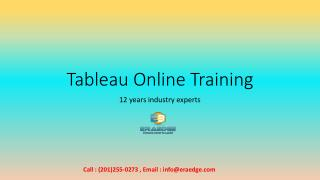 Tableau online Training in USA, UK, AUS | Eraedge