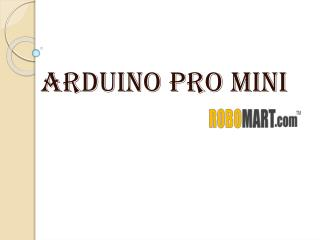 Buy Arduino Pro Mini India By Robomart