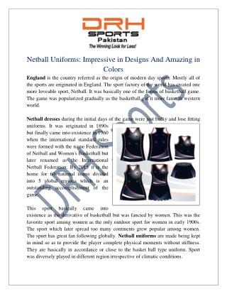 Netball Uniforms Manufacturers | Custom Netball Uniform
