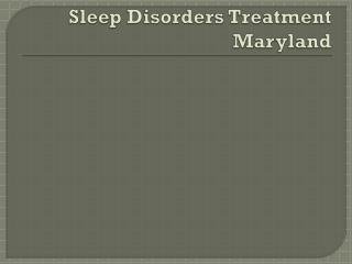 Sleep Center Maryland