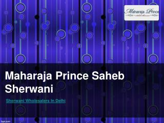 Sherwani Wholesalers In Delhi