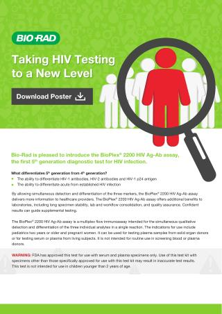 Bio-Rad: Making early HIV detection possible