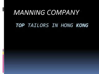 Manning Company