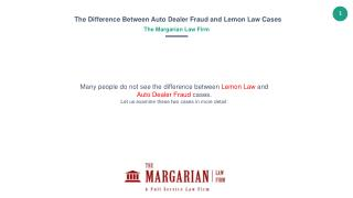 Differences between Lemon Law and Dealer Fraud Cases