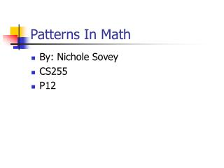 Patterns In Math