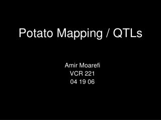 Potato Mapping