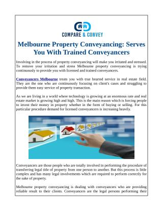 Melbourne Property Conveyancing: Serves You With Trained Conveyancers