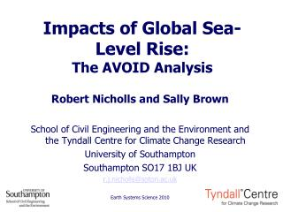 Impacts of Global Sea-Level Rise: The AVOID Analysis
