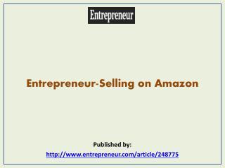 Entrepreneur-Selling on Amazon