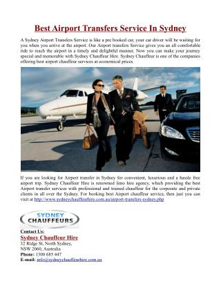 Best Airport Transfers Service In Sydney