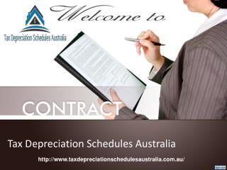 Tax Depreciation schedules Australia for Depreciation Specialists.