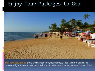 Enjoy Tour Packages to Goa