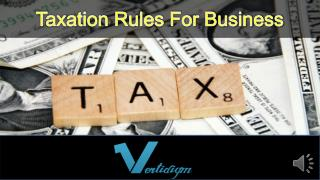 Taxation Rules For Business