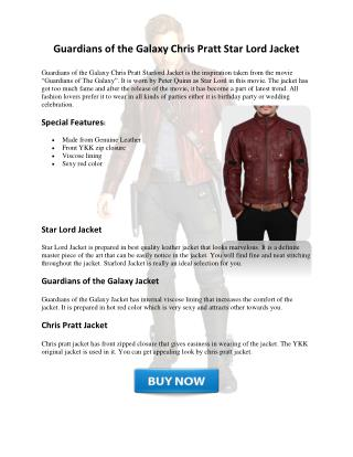 Star Lord Jacket