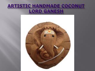 Artistic Handmade Coconut Lord Ganesh